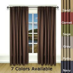 Check out the deal on Ultimate Blackout Rod Pocket Curtain Panel at BedBathHome. Blackout Curtains, Panel Curtains, Home Theater Rooms, Rod Pocket, Things To Sell, Color, Windows, Decorating, Home Decor