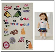 Mini Cheerleading Embroidery Design Set and Tutorial by Genniewren, $5.00