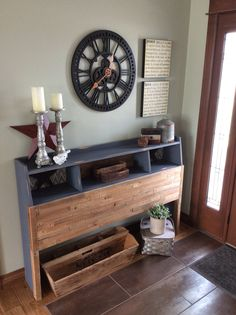 I repurposed a bookcase headboard made by my father by using chalk paint and lathes from our old house.
