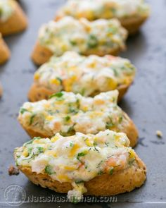I threw a party and everyone was humming over these cheesy shrimp canapés. So good and easy to make!