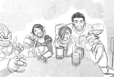 Paladins - Meanwhile, at the Pub Near Timber Mill by feralknights