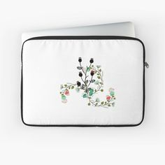 'Floral portratit' Laptop Sleeve by Back To Black, Laptop Sleeves, Pattern Design, Floral Design, Plush, Art Prints, Printed, Awesome, Shop
