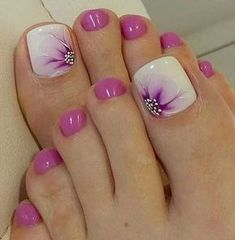 Summer is about to over so we wanted to gather the best toe nail art ideas that can inspire you this month. Different colors and nail designs can be... Pedicure, Gel Nail Designs, Nail Polish Colors, Ideas, Gel Nails, Body Art, Beauty, Feet Nails, Ongles