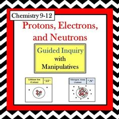 Chemistry periodic table trends guided inquiry lesson pinterest chemistry protons electrons neutrons guided inquiry lesson urtaz Image collections
