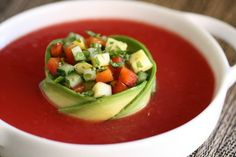 Beautiful Gazpacho Garnish | Food Presentation