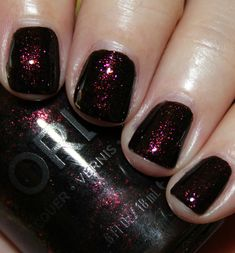 """Orly Smoky Collection for Fall 2014"" by Kelly on Vampy Varnish; pictured: ""Darkest Shadow"""
