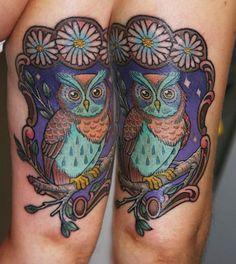 Maybe sunflowers instead of daisys? Glow Tattoo, Tattoo You, Pretty Tattoos For Women, Tattoos Gallery, Tattoo Studio, Owl Tattoos, Tatting, Body Art, Piercings