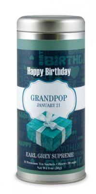 Blue Present for Grandpop   The Tea Can Company