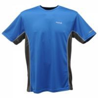 £8.99 -  Regatta Mens Stratus Top Oxford Blue  A quick drying, travel friendly T-shirt with a sporty two tone design. 100% quick dry polyester mesh fabric. Good wicking performance