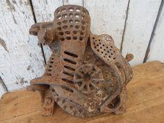 Antique Cast Iron Fulton Hand Crank Corn Sheller ~ Vintage Farm Tool Barn Decor in Antiques, Primitives | eBay