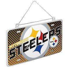 New Pittsburgh Steelers NFL Metal License Plate Holiday Christmas Ornament