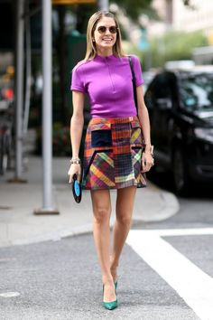 Pin for Later: All the Best Street Style From New York Fashion Week NYFW Street Style Day 5 Helena Bordon brought bold colour and a little '60s flair to the NYC streets.