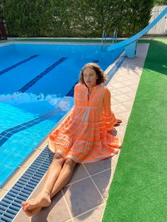 Devotion Twins #embroidery #summerstyle #bohochic #madeingreece Off White Dresses, Boho Chic, Twins, Cover Up, Neon, Embroidery, Orange, Cotton, How To Make