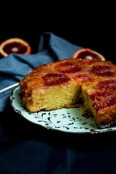 Enjoy the little indulgences with this seasonal treat featuring blood oranges and almond meal.