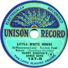 78 Records, Vintage Records, Vinyl Records, Vinyl Cover, Lp Vinyl, Center Labels, Little White House, Senior Project, Phonograph