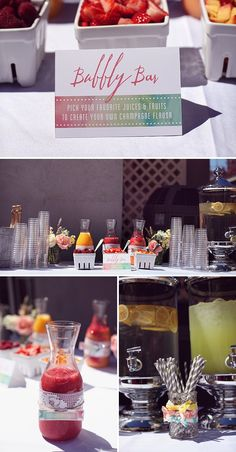 Of course you have to have a bubbly bar at a brunch shower! Love!