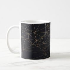 Luxury Gold Black Pattern Mug - floral gifts flower flowers gift ideas