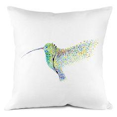 Set of Two 4K Unique Hummingbird Art pillows cover 100% cotton / egyptian handmade silk pillow case pillowcase cushion cover Bedroom Present