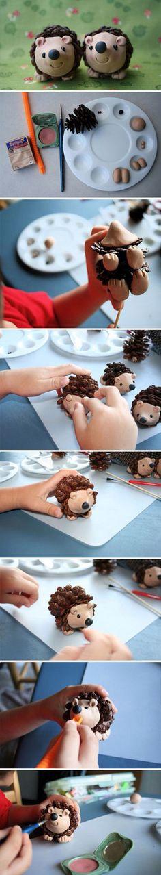 игрушки из шишек
