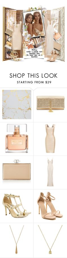 """Duet in beige tones"" by kseniz13 ❤ liked on Polyvore featuring Whiteley, Yves Saint Laurent, Givenchy, Hervé Léger, Judith Leiber, Ghost, Dee Keller, Gucci, outfit and Elegant"