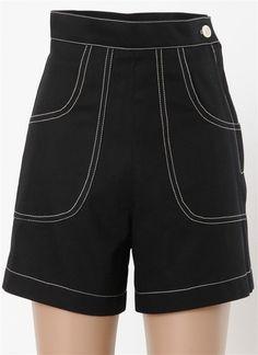 Black Classic 1940's Shorts