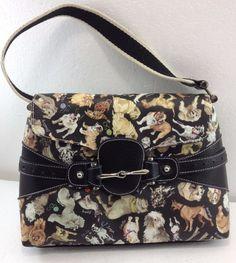 eef71b606da6 Sydney Love Cats  amp  Dogs Collection Flap-Over Shoulder Bag Handbag Purse  NEW