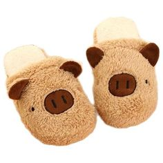 Cute Pig Slip On Flat Indoor Home Shoes