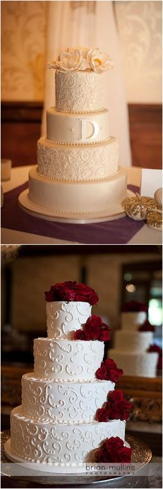 Classic Elegant Wedding Cakes #weddings #weddingcakes / http://www.deerpearlflowers.com/amazing-wedding-cake-ideas/2/