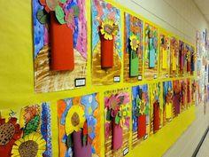 Artsonia Art Museum :: Artwork by Mixes media - fabulous colour for spring or summer art class! Spring Art, Summer Art, Spring Crafts, First Grade Art, Art Curriculum, Art Classroom, Classroom Ideas, Art Programs, Art Lesson Plans