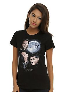 Supernatural Moon Portrait T-Shirt, BLACK