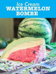 Watermelon Bombe - A healthy, whole foods twist on a classic