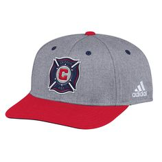 5f383ba36794e5 adidas MLS Chicago Fire Adult Men 2-Tone Structured Adjustable, $17.71