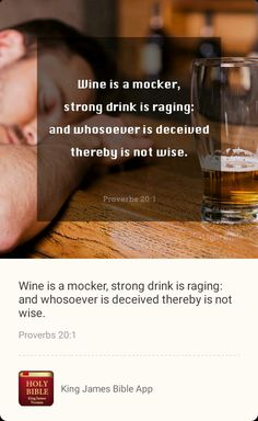 Holy Bible King James, Proverbs 20, Strong Drinks, Bible App, Rage, Need To Know, Verses, Prayers, Quotes