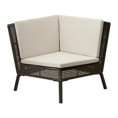 AMMERÖ Corner section with pad IKEA Hand woven plastic rattan offers the same look as natural rattan but is more durable for outdoor use.