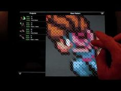 Turn any photo or image into a fuse bead/ Perler Bead Sprite Pattern with the  Bead It!  HD app for iPhone / iPad