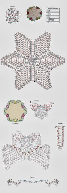 Toda Moderna: Tapete de crochê com flores - Receita e gráfico