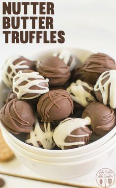 Nutter Butter Truffles - These delicious 3 ingredient truffles are so easy to make for a no bake peanut butter and chocolate treat.
