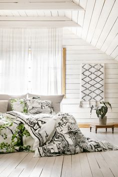 Raatihuone and Lehto bedsets, Saaristo rug Bed Sets, Bedding Sets, Rugs, Bedroom, Furniture, Home Decor, Farmhouse Rugs, Decoration Home, Room Decor