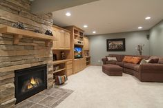 Cozy up for Movie Time in the Family Room