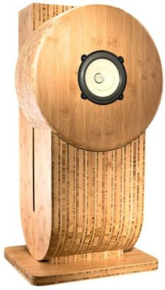 "JoSound ""The Sublime Jo"" - Amazing, highly acclaimed transmission-line, single full-range driver loudspeakers made from bamboo."