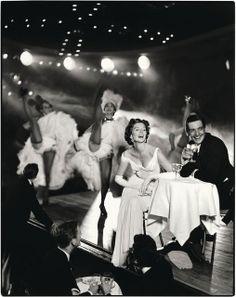 Richard Avedon: Suzy Parker and Robin Tattersall. Evening Dress by Grés, Moulin Rouge, Paris, August 1957 (1957), via Artsy.net