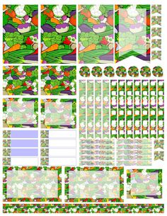 Eat your veggies. Free planner printable stickers, sized for the large happy planner (print at 85% for regular happy planner). Stickers are free, but if you like them I ask you donate to my Alzheimer's Memory Walk. Stickers are through my facebook group: https://www.facebook.com/groups/plannerstickersforacure/