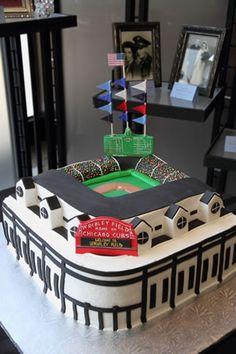 Wrigley field wedding cake