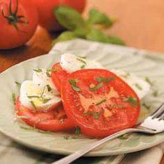 Fresh Mozzarella Tomato Salad Recipe from Taste of Home