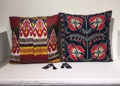 Suzani & Ikat cushions exclusive, unique Heritage Collection