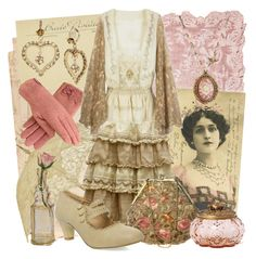 Sepia Rose by larkspurlane on Polyvore featuring polyvore, fashion, style, Betsey Johnson, Faliero Sarti, RGLT Scarves, Cultural Intrigue, Anthropologie, vintage, clothing and dollykei