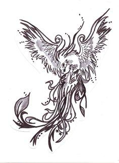 black_and_white_phoenix_by_mizzmelodic101-d5fqhh1.jpg (900×1238)