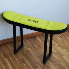 Stool: Pressure. Upholstered skateboard stool for a Skateboarder's Dream Room. Available on www.skate-home.com Worldwide Shipping #skate #skater #skateboard #interior #decoration #skateboarding #room #skatekids #giftideas #skateboarder #skatergiftideas #board #teen #decor #kidsdecor #luxury