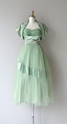 Parle-doux dress vintage 1950s dress tulle 50s by DearGolden
