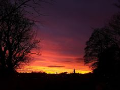 Edinburgh sunset on St. Andrew's Day